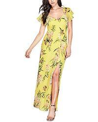 Guess - Short Sleeve Loyola Maxi Dress - Lyst
