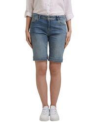 Esprit 991EE1C306 Shorts en Jean - Bleu