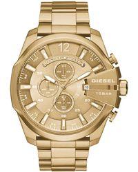 DIESEL Chronograph Quarz Uhr mit Edelstahl Armband DZ4360 - Mettallic