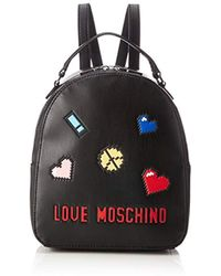 2864f94ef1 Love Moschino Backpack Coloured Studs Nero in Black - Lyst
