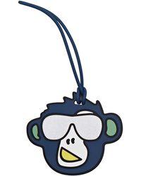 Kipling Monkey Fun Tag Porte-Clés - Bleu