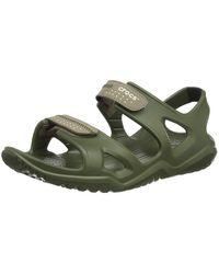 Crocs™ Herren Swiftwater River M Sandalen - Grün