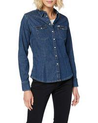 Wrangler Slim Western Shirt Camicia - Blu