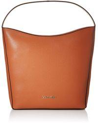 Calvin Klein Neat Hobo Md - Shoppers y bolsos de hombro Mujer - Marrón