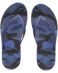 3d92f22f4e1d38 Abercrombie   Fitch Tab Logo Flip Flops In Camo Print in Green for ...