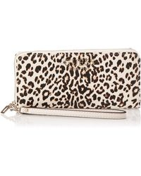 Guess Lorenna SLG Large Zip Around Leopard - Mehrfarbig