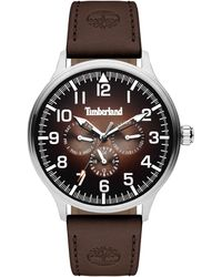 Timberland S Analogue Quartz Watch With Leather Strap Tbl15270js.12 - Multicolour