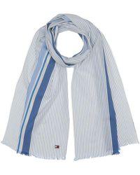 Tommy Hilfiger Shirt Stripe Scarf Bufanda - Azul