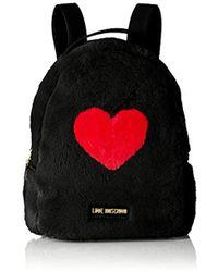 Love Moschino - Borsa Pin Grain Pu+poliestere Backpack Handbag - Lyst