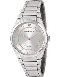 Ellen Tracy Quartz Metal And Alloy Casual Watch, Color:silver-toned (model: Et5293sl) - Metallic