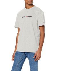 Tommy Hilfiger TJM Straight Small Logo Tee Sport T Shirt - Grau