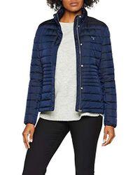 6ddeb6d3cff1 Gant Down Jacket in Blue - Lyst