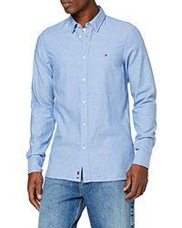 Tommy Hilfiger Slim Heather Arrow Dobby Shirt Chemise Casual, (Regatta Du6) - Bleu
