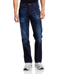 Wrangler Arizona Stretch Brushed Tiger Jeans Uomo - Blu