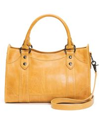 Frye Melissa Zip Satchel Leather Handbag - Multicolor