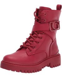 Guess Gworana Combat Boot - Red