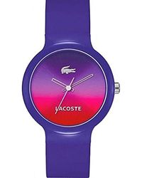 Lacoste Reloj analogico para Mujer de Cuarzo con Correa en Silicona 2020079 - Multicolor