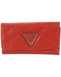 Guess Astrid Slim Clutch Wallet - Rouge