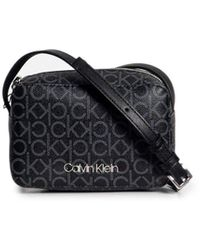Calvin Klein CK Mono Camera Bag Black Mono Mix - Schwarz