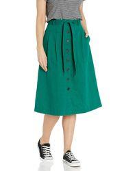 Goodthreads Washed Linen Blend Midi Skirt Skirts - Verde