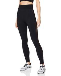 AURIQUE Legging de Sport sans Coutures Taille Haute - Noir