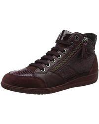 Geox D6468C04 Hohe Sneaker - Braun