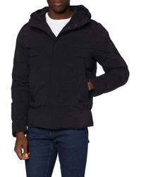 Tommy Hilfiger Hooded Stretch Bomber Jacket - Bleu