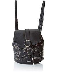 Desigual Bols_galaxy Mini Backpack, Backpack Handbag, Black (negro), 10.6x24x22.3 Cm (b X H T)