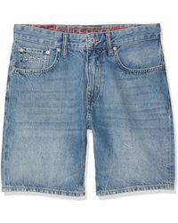 Superdry Conor Taper Short Pantalones Cortos - Azul