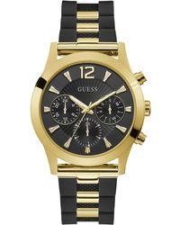 Guess Watches ladies skylar orologio Donna Analogico Al quarzo con cinturino in Silicone W1294L1 - Nero