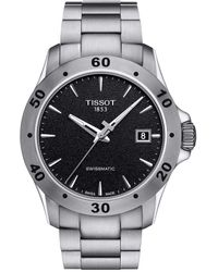 Tissot Mens V8 Gent Auto Stainless Steel Casual Watch Gray T1064071105100