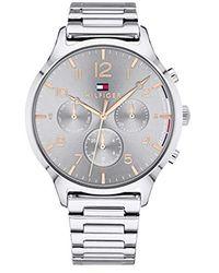 Tommy Hilfiger Reloj Multiesfera para Mujer de Cuarzo con Correa en Acero Inoxidable 1781871 - Metálico