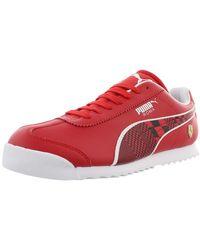 PUMA Ferrari Roma Baskets pour homme - Rouge