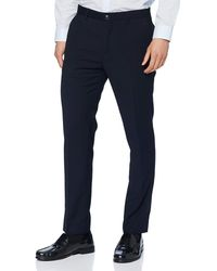 Scotch & Soda Stuart-Classic Chino in Yarn-Dyed Pattern Casual Pants - Nero