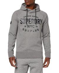 Superdry Surplus Goods Graphic Hood Sweat-Shirt À Capuche - Gris