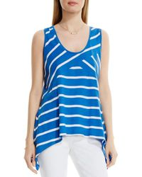 Two By Vince Camuto Directional Coast Stripe Sharkbite Tank - Blue