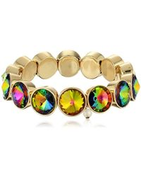 Betsey Johnson - Garden Of Excess Multi Colored Faceted Stone Stretch Bracelet - Lyst