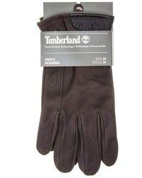 Timberland Nubuck Touch-Screen Handschuhe Braun