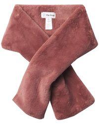The Drop Nicolette Faux Fur Scarf - Multicolour