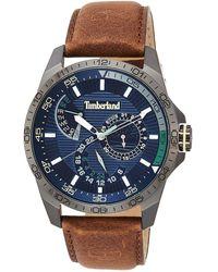 Timberland Armbanduhren Analog Quarzwerk Lederband 15641JSU-03 - Blau