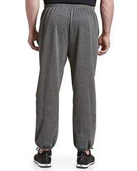 47c08a0db4128 Big & Tall Play Dry Fleece Trousers - Gray