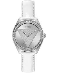 Guess Reloj Analógico para Mujer de Cuarzo con Correa en Cuero W0884L2 - Metálico