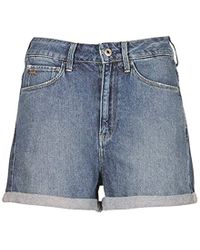 G-Star RAW 3301 Ultra High Waist Shorts Donna - Blu