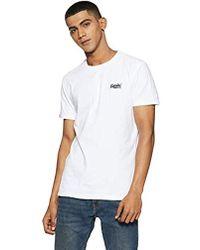 Superdry Orange Label Vntge Emb S/S tee Camiseta de Tirantes para Hombre - Blanco