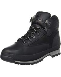 79cbed182cd S Euro Hiker Leather Boots In Black- Lace Fastening- Padded Collar