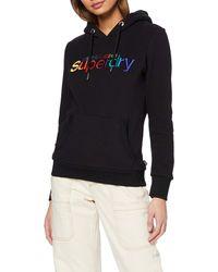 Superdry Sudadera Classic con capucha y bordado Rainbow - Negro