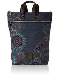 Desigual 19waka07 Rucksack Handbag - Blue