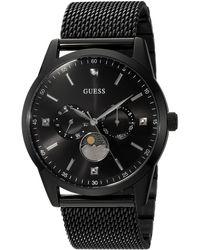 Guess Stainless Steel Mesh Dress Watch - Noir