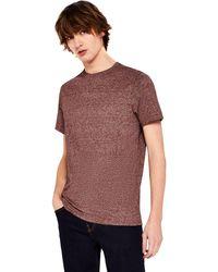 FIND Camiseta Básica con Textura - Multicolor