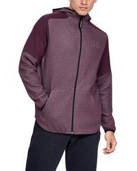 Under Armour Hooded Full Zip UA Unstoppable Déplacer la lumière Blouson - Violet